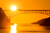 Equinox Sunset at Deception Pass 2015 Sep / デセプション海峡の夕陽